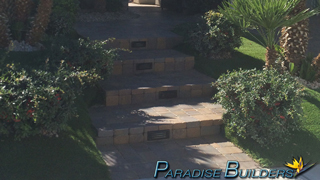 Paver steps leading to the front entrance of a house in anthem las vegas